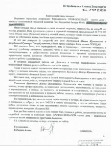 Отзыв Кабашева Алмаза